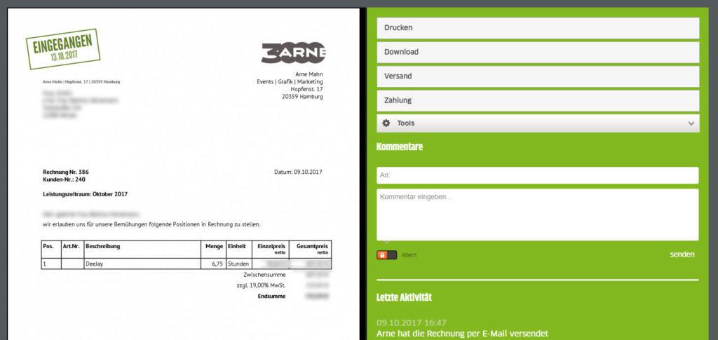 Rechnungen online erstellen und verschicken
