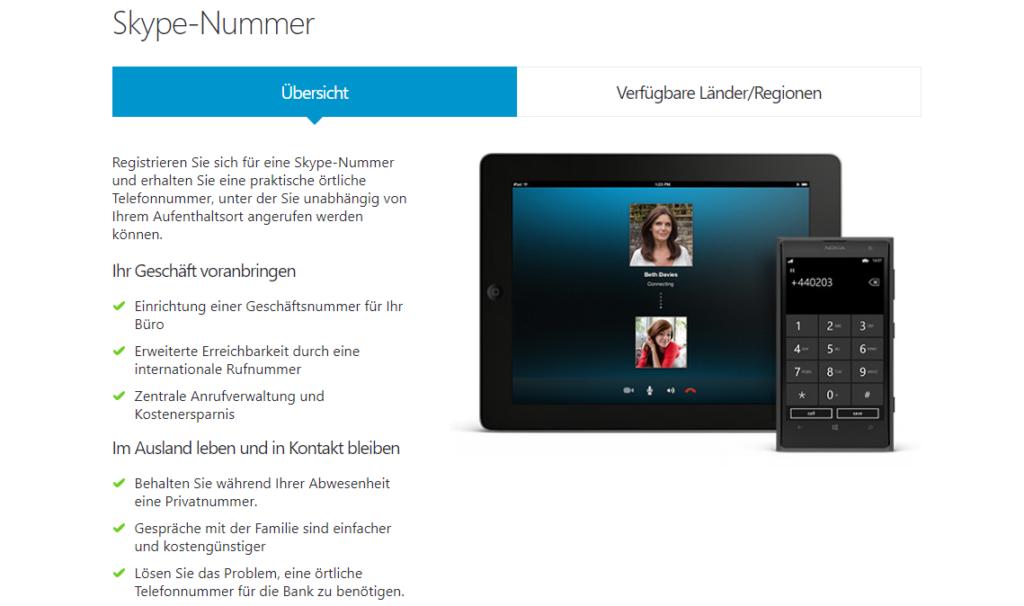 Rufumleitung Festnetz mit der Skype-Nummer